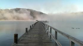 Morning mist at Anakiwa